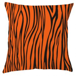 Tiger print pillow.