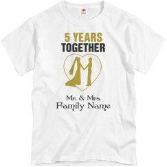 5Th Wedding Anniversary Shirt