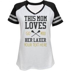 Custom Mom Loves Lacrosse Player