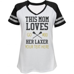 Custom Mom Loves Lacrosse Player