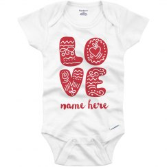 L.O.V.E. Custom Baby Onesie