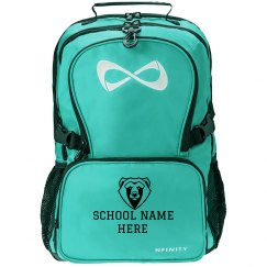 Custom Bear Mascot School Cheer Bag