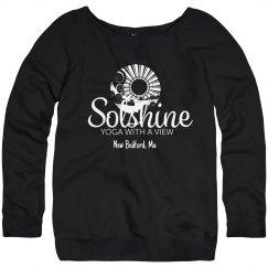 Turquoise Boatneck Sweatshirt