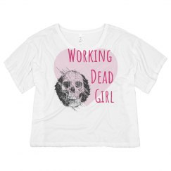 Working Dead Girl Crop Tee