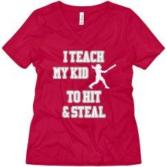 Hit & Steal Softball Tee