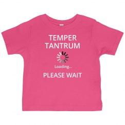 Temper tantrum...