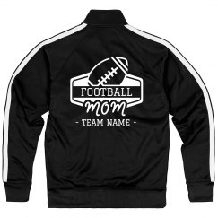 Football Mom Custom Team Sporty Zip Jacket