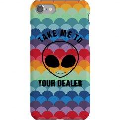Grunge Alien Phone Case