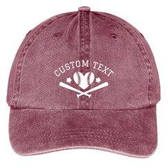 Customizable Softball Team Hats