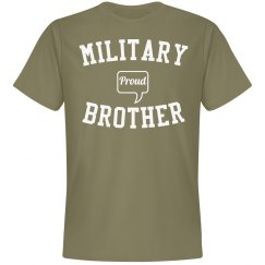 Proud military brother