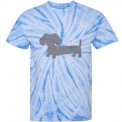 Wiener Dog Tie-dyed shirt
