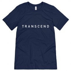 White on Blue Transcend tee