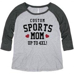 Personalized Sports Mom Plus Raglan