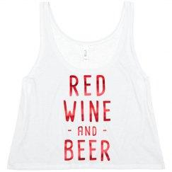 Red Metallic Red Wine & Beer