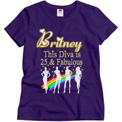 25TH BIRTHDAY DAZZLING DIVA PERSONALIZED T SHIRT