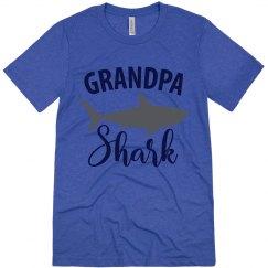 Grandpa Shark Tri-blend Shirt