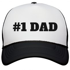 #1 Dad Father's Day Hat Gift