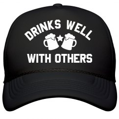 Dad Drinks Well With Others Gift
