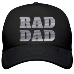 Rad Dad Metallic Silver Text