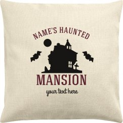 Custom Name's Haunted Mansion Pillow