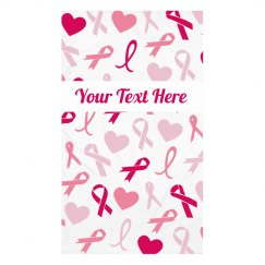 Your Text Pink Ribbons Face Cover