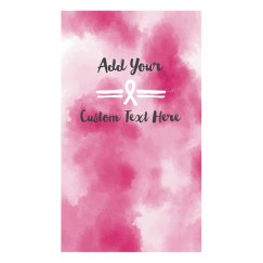 Custom Text Watercolor Ribbon Mask