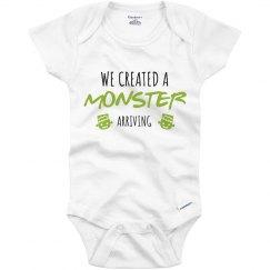 Cute Monster Baby Announcment