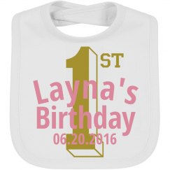 1st birthday Bib