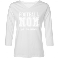 A Trendy Football Mom Shirt With Custom Name