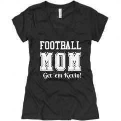 A Trendy Football Mom Shirt With Custom Name