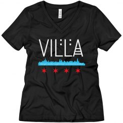 LADIES RELAXED FIT V-NECK Villa Skyline TEE