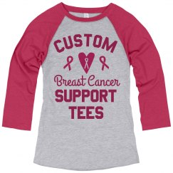 Custom Breast Cancer Support Group Shirts