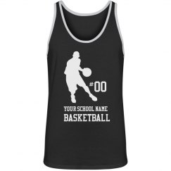 Personalized, Player Silhouette, Basketball Tank Top