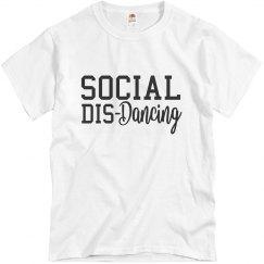Social Dis-Dancing Unisex Tee (White)