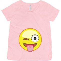 Emoji Maternity Tee Pink