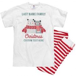 Happy Bears Matching Christmas Pajamas