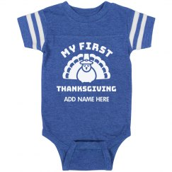 Custom My First Thanksgiving Onesie