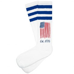 Est. 1776 USA Flag Socks