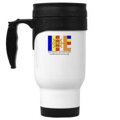 14oz White Stainless Steel Travel Mug