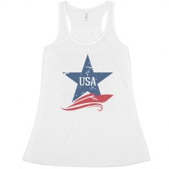 USA Distressed Star