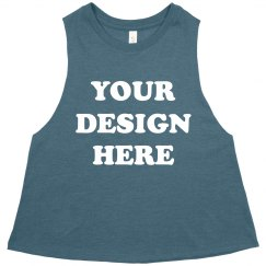 Custom Crop Top Tanks Your Design