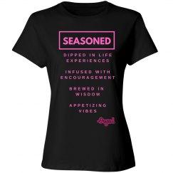 Seasoned Woman Tee BLK/Pink