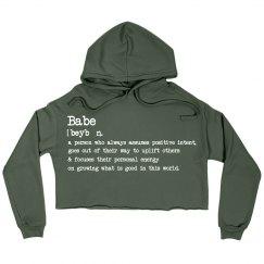 Babe Crop Sweater
