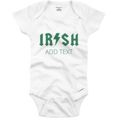 Custom Irish Rockstar Baby