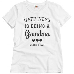 Happiness is Being A Grandma Custom Grandparent's Day