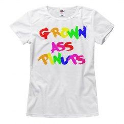 GROWN ASS PINUPS RAINBOW T-SHIRT