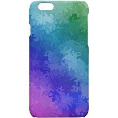 Rainbow Marbleized Colorful Marble Paint Look