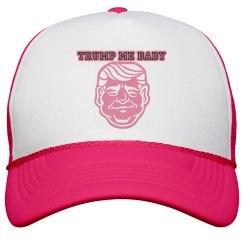 TRUMP ME PINK&WHITE TRUCKER HAT