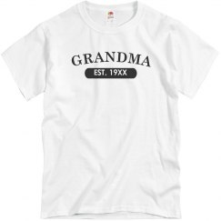 Custom Grandma EST. Tee