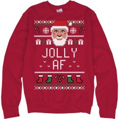 Jolly AF Ugly Santa Chrismas Sweater
